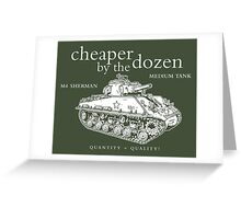 M4 Sherman Tank Greeting Card