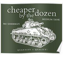 M4 Sherman Tank Poster