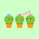 three cactus cacti with one in the middle  by jazzydevil