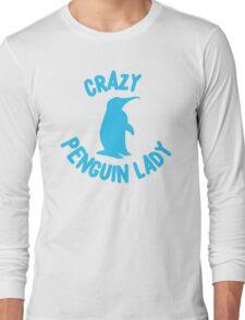 Crazy Penguin Lady (new circle) Long Sleeve T-Shirt
