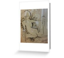 nude lines Greeting Card