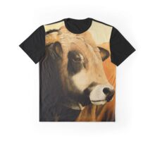 """""""Gibrad"""" French Aubrac bull from La Vallée des Cerfs in France Graphic T-Shirt"""