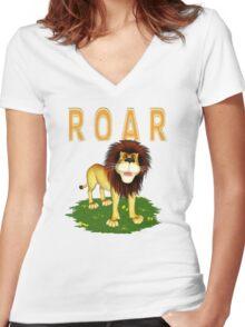 ROAR Women's Fitted V-Neck T-Shirt