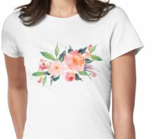Watercolor Flower Bouquet  Womens Fitted T-Shirt