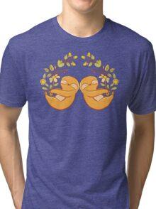 Sleepy garden sloths Tri-blend T-Shirt