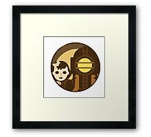 Bioshock Big Daddy and Lil Sister icon Framed Print