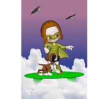 Up Up and Away .. the green avenger Photographic Print