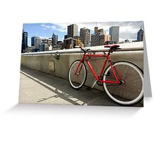 Bicycle Commute -Southbank Melbourne Australia Greeting Card