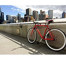 Bicycle Commute -Southbank Melbourne Australia Photographic Print