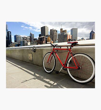 Bicycle Commute -Southbank Melbourne Australia Photographic Print