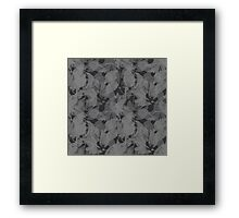 Seamless Flower  Tulip  Pattern. Monochrome background garden Framed Print