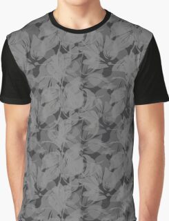 Seamless Flower  Tulip  Pattern. Monochrome background garden Graphic T-Shirt