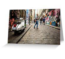 Parting Ways - Melbourne Laneways - Australia Greeting Card