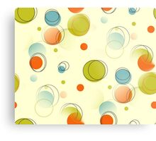 Midcentury Modern Bubble Dots Abstract Pattern Metal Print