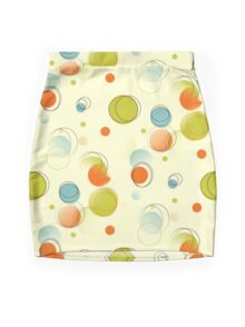 Midcentury Modern Bubble Dots Abstract Pattern Mini Skirt