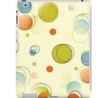 Midcentury Modern Bubble Dots Abstract Pattern iPad Case/Skin