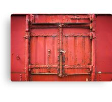 Steel door Canvas Print