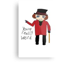 Willy Wonka Chibi Metal Print