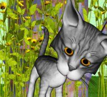 Curious Kitty Sticker