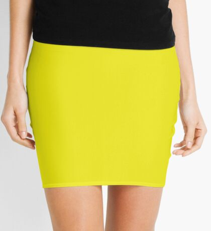 Solid Gold - Plain Yellow Color - T-Shirt Mini Skirt