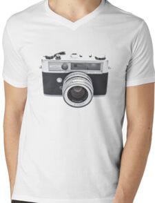 Vintage Camera Yashica Mens V-Neck T-Shirt