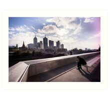 Cubicle lament - Southbank Melbourne Art Print