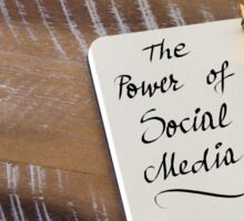 Handwritten text THE POWER OF SOCIAL MEDIA Sticker