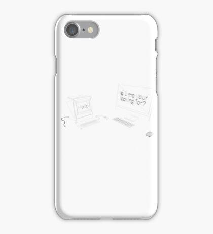 Mac meet iMac iPhone Case/Skin