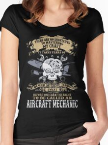 Aircraft Mechanic Women's Fitted Scoop T-Shirt