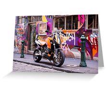 Two wheel urban camo - Melbourne Australia Greeting Card