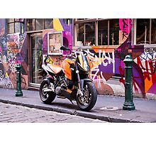 Two wheel urban camo - Melbourne Australia Photographic Print