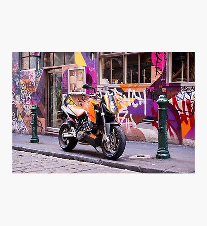 Two wheel urban camo - Melbourne Australia Photographic Print