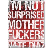 Nate Diaz UFC Not Surprised Flag 2 iPad Case/Skin