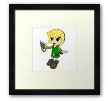 Toon Link on the edge! Framed Print