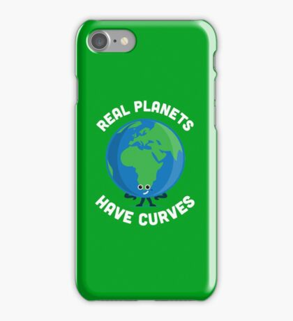 Character Building - Real Planets Have Curves iPhone Case/Skin
