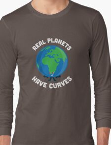 Character Building - Real Planets Have Curves Long Sleeve T-Shirt