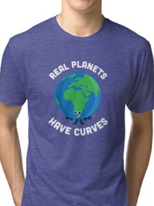 Character Building - Real Planets Have Curves Tri-blend T-Shirt