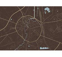 Leuven Map (Autumn II) Photographic Print