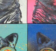 'Kats on Acid' by Christian Asare Sticker