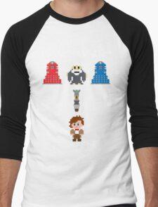 Doctor Who Meets Zelda Men's Baseball ¾ T-Shirt