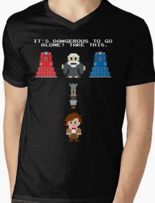 Doctor Who Meets Zelda Mens V-Neck T-Shirt