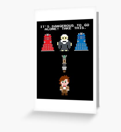 Doctor Who Meets Zelda Greeting Card