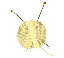 Hand drawn ball of yarn Photographic Print