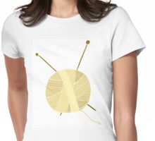 Hand drawn ball of yarn Womens Fitted T-Shirt