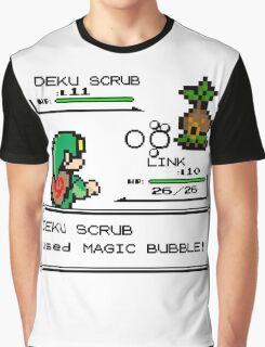 Zelda Pokemon Fight Graphic T-Shirt