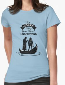 Captain Swan. Oncer Thing! Womens Fitted T-Shirt