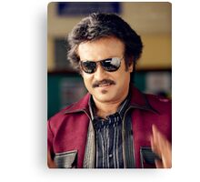 Rajinikanth (Anna)  has won six Tamil Nadu State Film Awards—four Best Actor Awards  Canvas Print