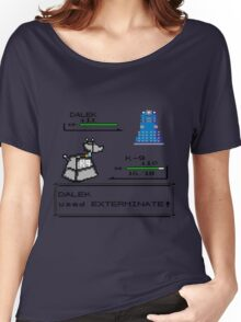 Doctor Who Pokemon Battle Women's Relaxed Fit T-Shirt
