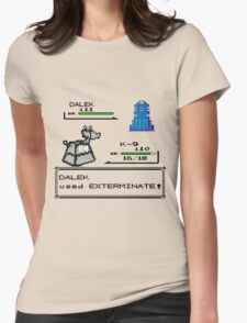 Doctor Who Pokemon Battle Womens Fitted T-Shirt
