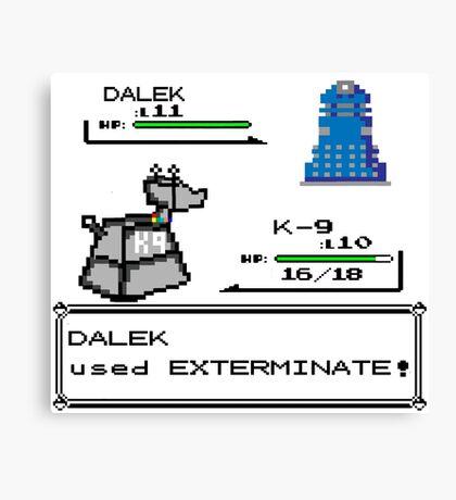 Doctor Who Pokemon Battle Canvas Print